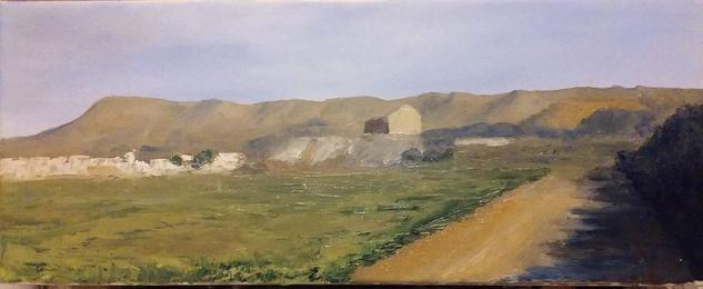 Paisaje minero de La Unión Lienzo Óleo Paisaje