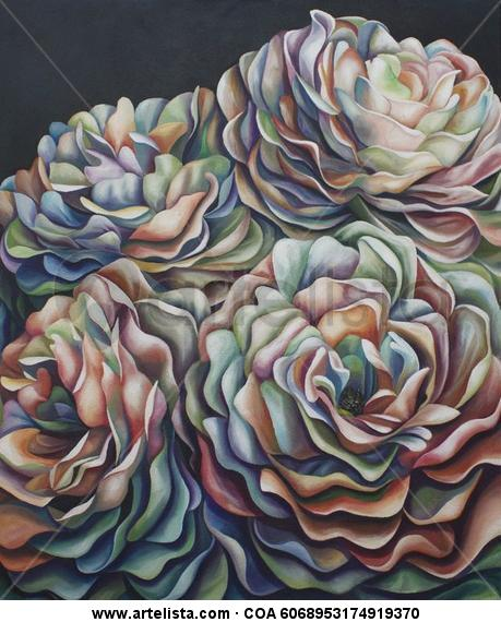 Claridad Lienzo Óleo Floral