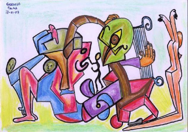 Placer y música Acuarela Cartulina Otros