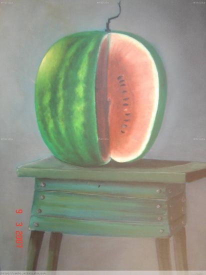 Delicias III Oil Canvas Still Life Paintings