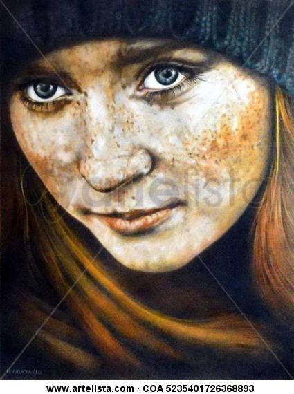 Desde Rusia Tabla Lápiz (a color) Retrato