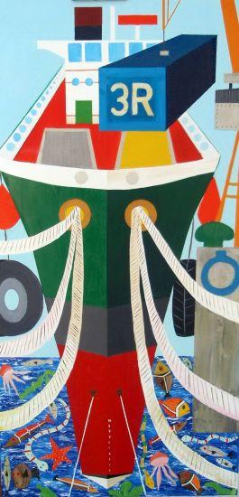 El barco Oil Canvas Marine Painting