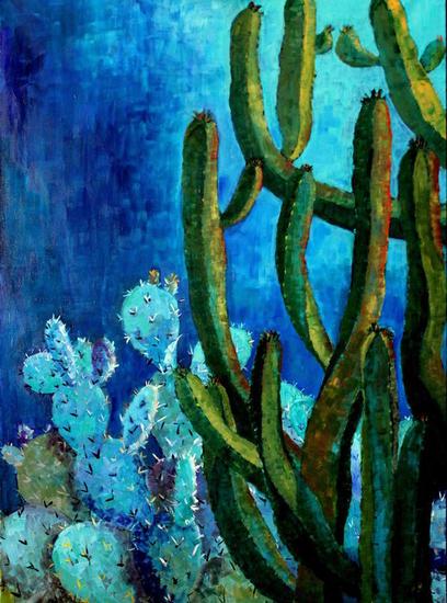 Jardines VI. Lienzo Óleo Floral