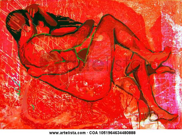 Almas esperanzadas 11 Desnudos Media Mixta Lienzo