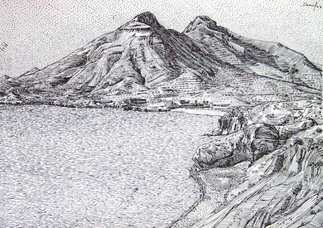 Los Escullos con los Frailes II Paper Ink Landscaping