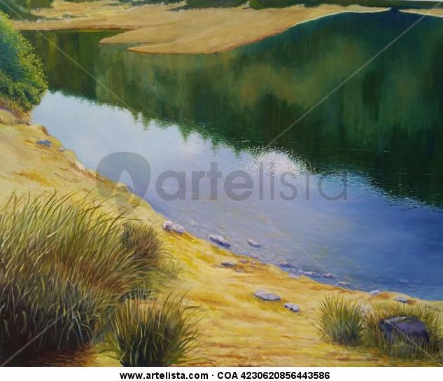 Laguna del Fraile Merida Lienzo Óleo Paisaje