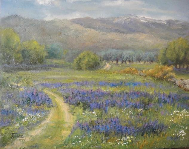 Llega la primavera Lienzo Óleo Paisaje