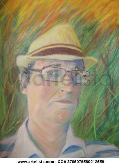 AUTORETRATO Papel Pastel Retrato