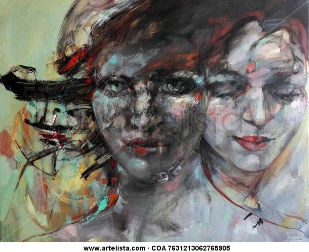 Maga y sombra. Portrait Oil Canvas