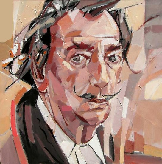 Retrato de Salvador Dalí Canvas Acrylic Portrait