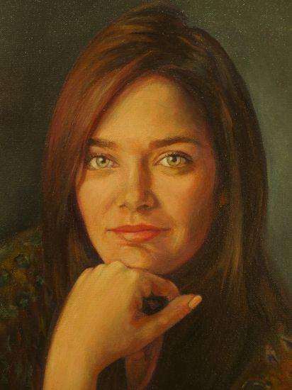 Cristina Oil Canvas Portrait