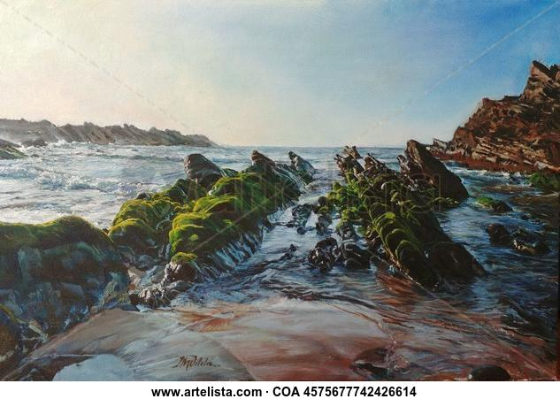 Atardecer en Praia do Cavaleiro Marina Óleo Lienzo