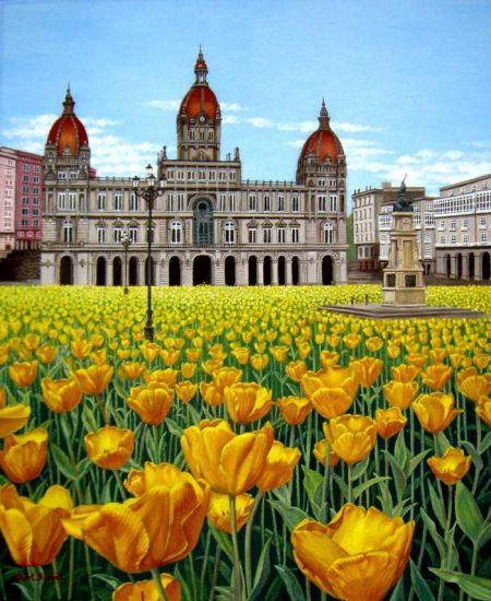 Espejismo con flores (Ayuntamiento de A Coruña)