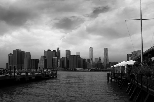 Skyline from Brooklyn Blanco y Negro (Digital) Arquitectura e interiorismo