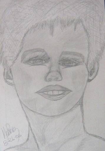 Rostro Mujer Adolescente Lápiz
