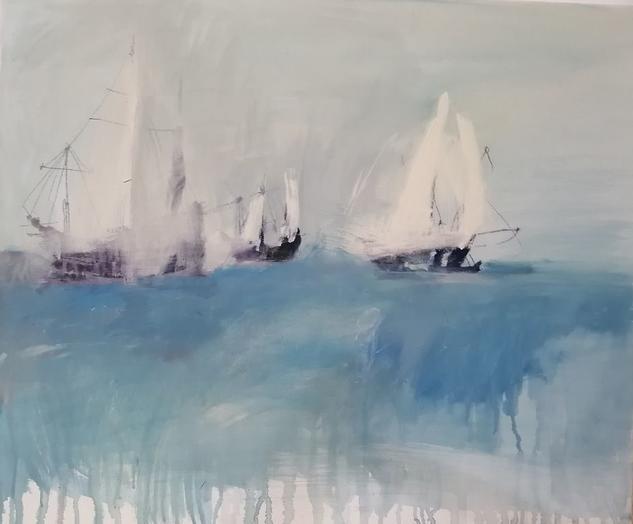 Velas al viento Marina Acrílico Lienzo