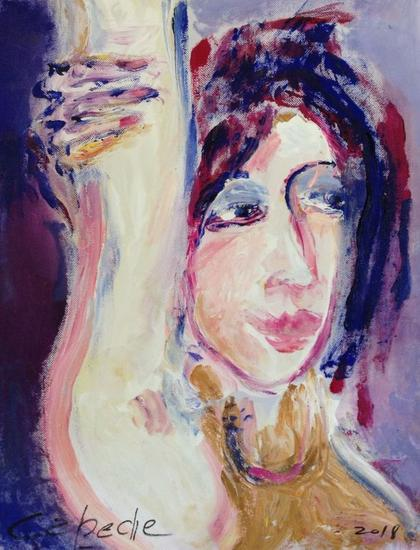 Retrato de Luisa Acrílico Retrato Tela