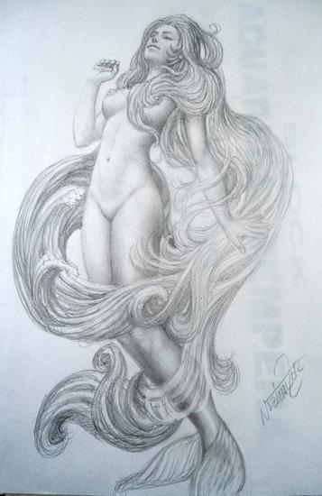 Boceto para Sirena 1 Lápiz