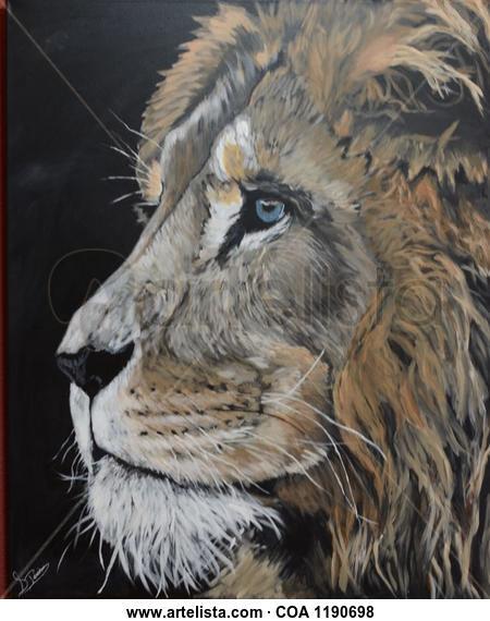 The king  Animales Acrílico Lienzo