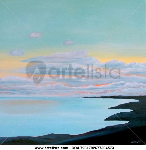 Sunset in Sa Rapita Bay Lienzo Acrílico Paisaje