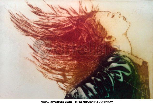 Woman. Huecograbado