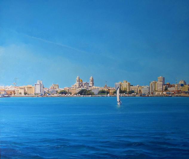 Llegada a Cádiz Lienzo Óleo Marina