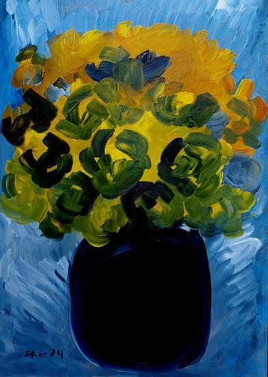 Yellow roses. Wood,  Floral Óleo Otros