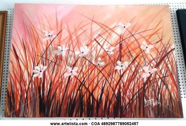 Libre Floral Painting Acrylic Canvas