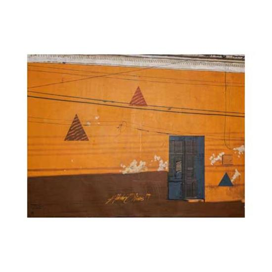 Detrás del sol está Izámal 12 Landscaping Acrylic Canvas