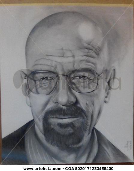 Heisenberg, dibujo a grafito  Lápiz