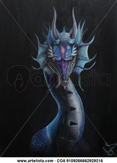 Dragon Tabla Óleo Animales