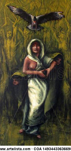 El Traro enmienda a la Virgen  Lienzo Acrílico Desnudos
