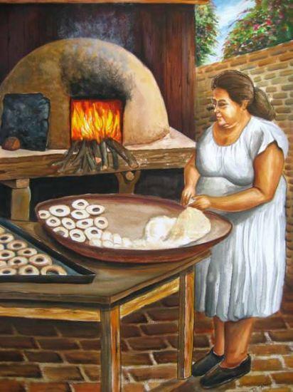 LA PANADERA Óleo Lienzo Retrato