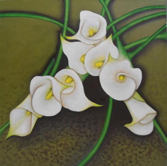 CARTUCHOS Lienzo Óleo Floral