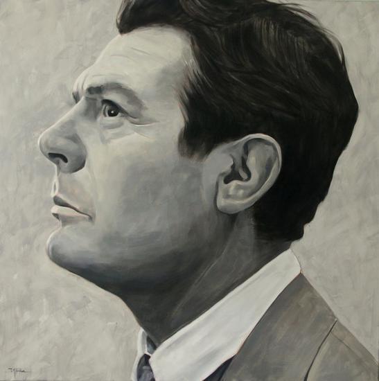 Marcello Mastroianni Lienzo Óleo Retrato