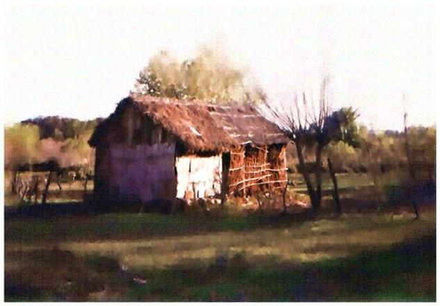 Rancho de paja Uruguay.