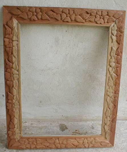 Marco rustico tallado ana diniz for Muebles tallados en madera