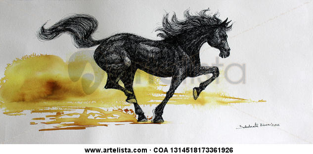 Galloping Horse-08 Ink