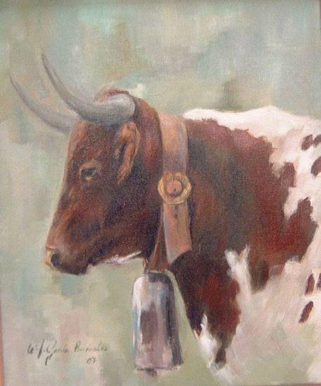 Vaca berrenda mar a jos garcia barrientos - Cuadros de vacas ...