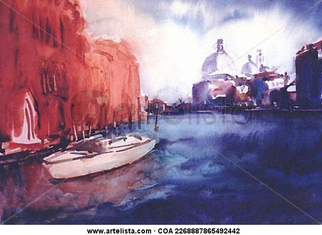 Román Antonio Peréz Brito: venice Paper Watercolour Others