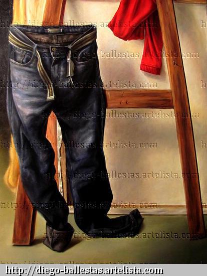 El modelo y el artista. Others Canvas Oil