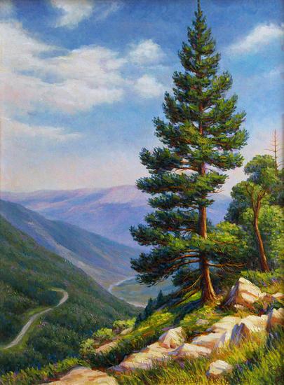 En las montañas Lienzo Paisaje Óleo
