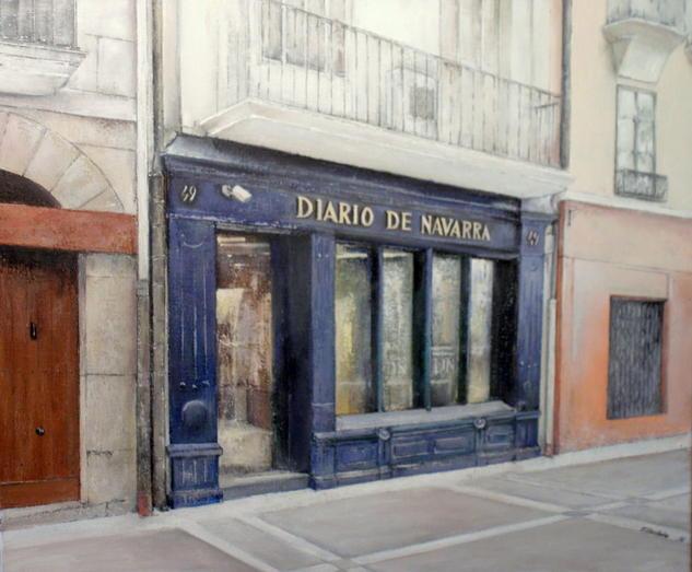 Diario de Navarra-Pamplona Lienzo Óleo Paisaje