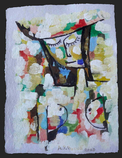 Mujer X Figure Painting Acrylic Paper
