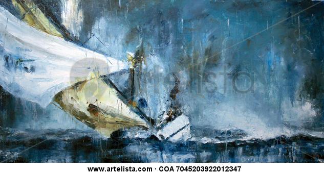 Velero 470 Canvas Oil Marine Painting