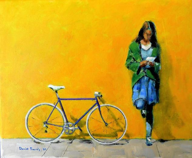 Bici 001 2020 Figura Óleo Lienzo