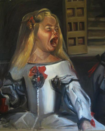 Infanta enfadada Cartulina Óleo Figura