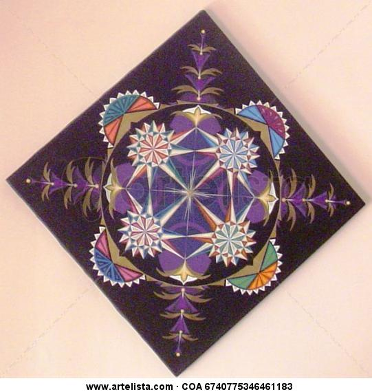 Mandala - Danza de cristales sonoros Canvas Acrylic Others