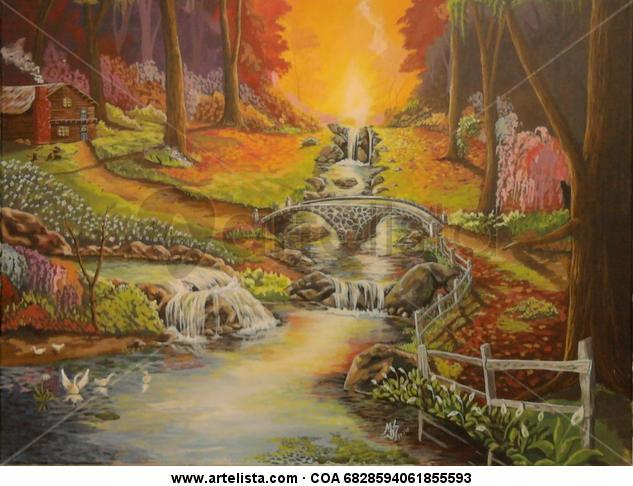 sueño  Landscaping Canvas Acrylic