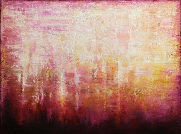 Abstract Sunset Landscape VII Landscaping Oil Canvas